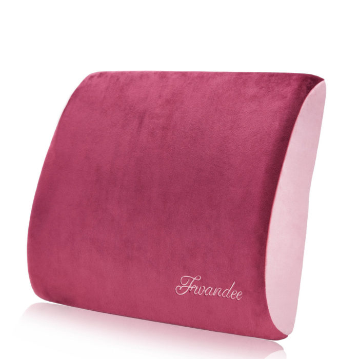 Natural latex pillow for travellers with backrest support